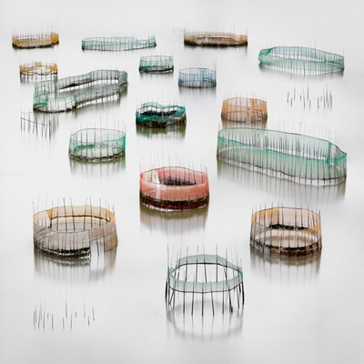 Colorful Crab Cages