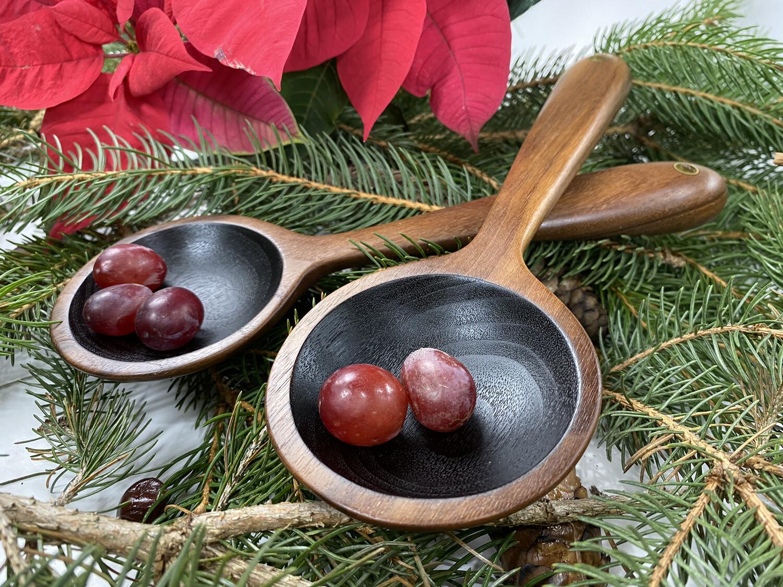 Blackened Walnut Serving Spoons