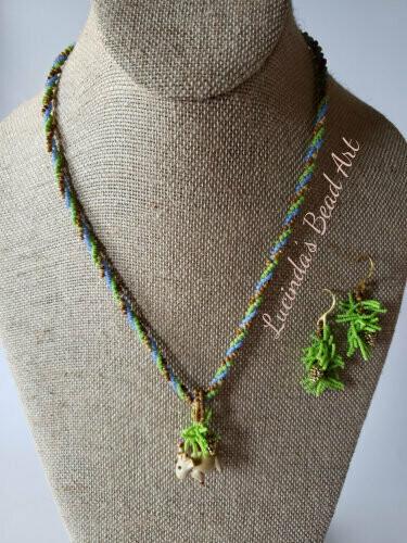 Adirondack Necklace with Moose Pendant
