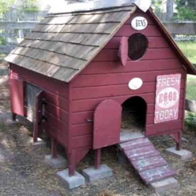 New England Chicken Coop Plan - Instant Download