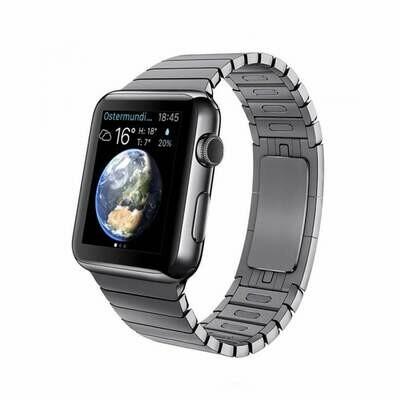 Apple WATCH 1. Generation 42mm silbernes Edelstahlgehäuse mit silbernem Gliederarmband