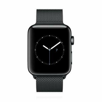 Apple WATCH Series 2 42mm schwarzes Edelstahlgehäuse mit schwarzem Milanaise Amband
