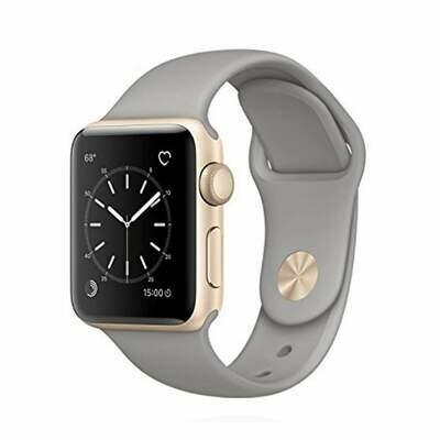 Apple WATCH Series 2 38mm goldenes Aluminiumgehäuse mit grauem Sportarmband