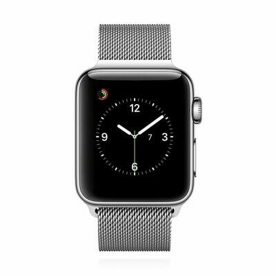 Apple WATCH Series 2 38mm silbernes Edelstahlgehäuse mit silbernem Milanaise Armband