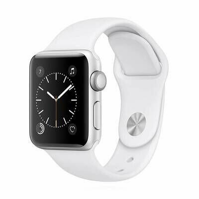Apple WATCH Series 2 38mm silbernes Aluminiumgehäuse mit weißem Sportarmband