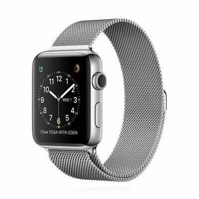 Apple WATCH Series 2 42mm silbernes Edelstahlgehäuse mit Milaneise Armband