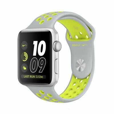 Apple WATCH Series 2 Nike+ 38mm Silber Sportarmband Silber Volt
