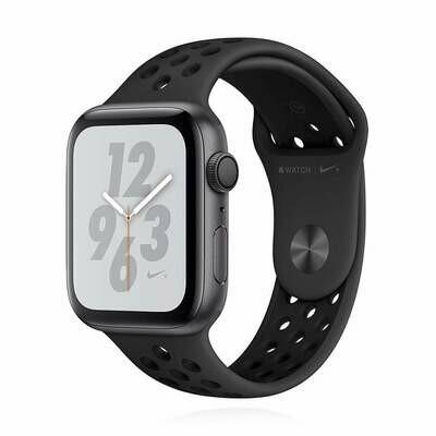 Apple WATCH Series 4 Nike+ GPS 44mm spacegraues Aluminiumgehäuse Sportarmband schwarz anthrazit