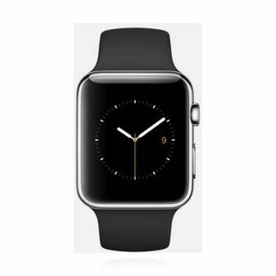Apple WATCH Series 3 GPS + Cellular 42mm silbernes Aluminiumgehäuse mit schwarzem Sportarmband