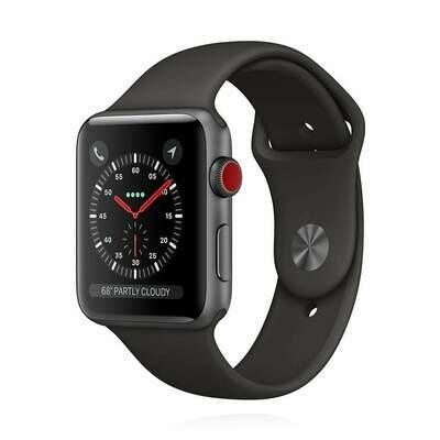 Apple WATCH Series 3 GPS + Cellular 42mm Aluminiumgehäuse spacegrau Sportarmband grau