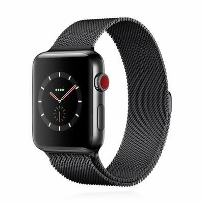 Apple WATCH Series 3 GPS + Cellular 42mm spacegraues Edelstahlgehäuse mit spacegraues Milanaise Armband