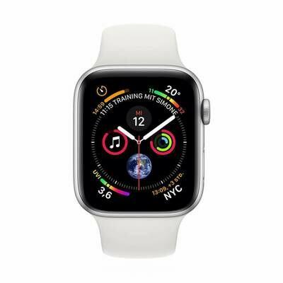 Apple WATCH Series 4 44mm GPS+Cellular silber Aluminiumgehäuse mit weißem Sportarmband