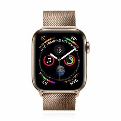 Apple WATCH Series 4 40mm GPS+Cellular goldenes Edelstahlgehäuse mit goldenem Milanaise Armband