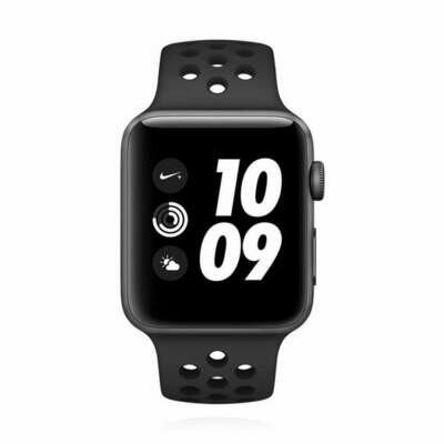 Apple WATCH Series 3 Nike+ GPS + Cellular 42mm spacegraues Aluminiumgehäuse schwarzes Nike Sportarmband