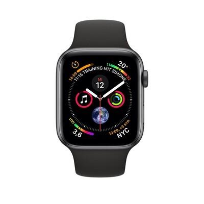 Apple WATCH Series 4 40mm GPS+Cellular Space Graues Aluminiumgehäuse mit schwarzem Sportarmband