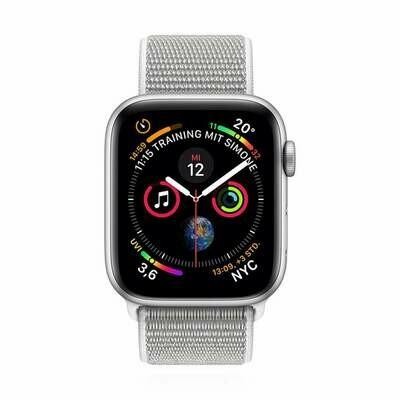 Apple WATCH Series 4 44mm GPS silber Aluminiumgehäuse mit Sport Loop muschel