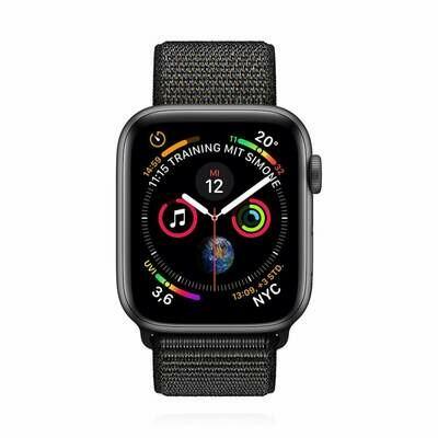 Apple WATCH Series 4 40mm GPS+Cellular Space Graues Aluminiumgehäuse mit Sport Loop schwarz