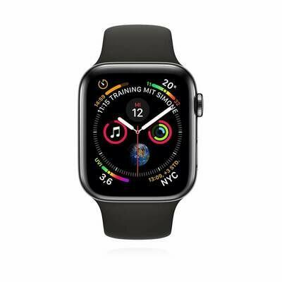 Apple WATCH Series 4 44mm GPS+Cellular Space Schwarzes Edelstahlgehäuse mit schwarzem Sportarmband