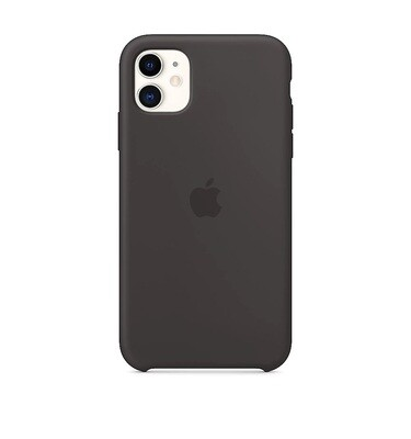 Apple Original iPhone 11 Silikon Case-Schwarz