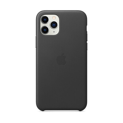 Apple Original iPhone 11 Pro Leder Case-Schwarz