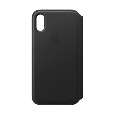 Apple Original iPhone XS Leder Folio Case-Schwarz