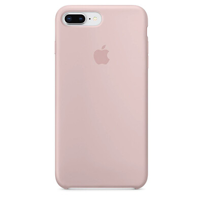 Apple Original iPhone 8 / 7 Plus Silikon Case-Sandrosa