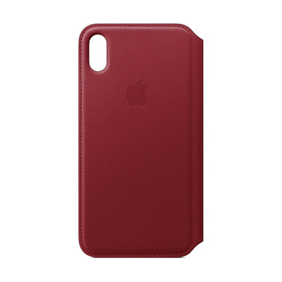 Apple Original iPhone XS Max Leder Folio Case-(PRODUCT)RED