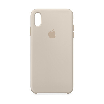 Apple Original iPhone XS Max Silikon Case-Stein