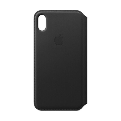 Apple Original iPhone XS Max Leder Folio Case-Schwarz
