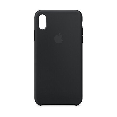 Apple Original iPhone XS Max Silikon Case-Schwarz