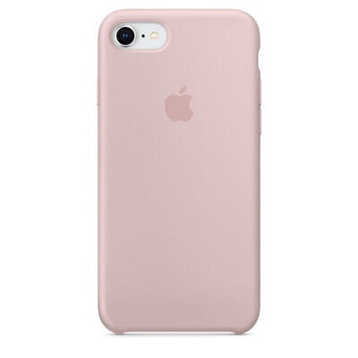 Apple Original iPhone 8 / 7 Silikon Case-Sandrosa