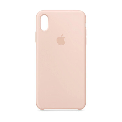 Apple Original iPhone XS Max Silikon Case-Sandrosa