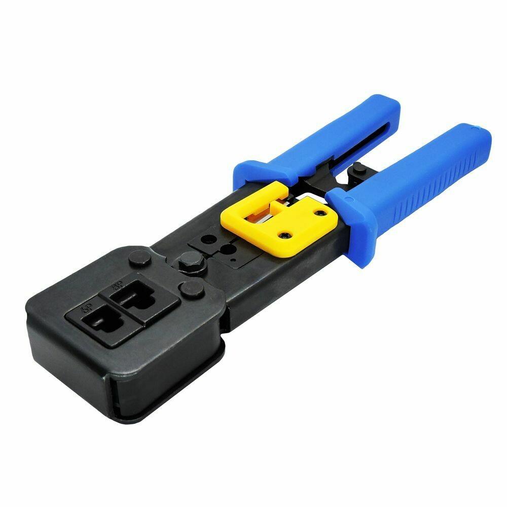Alicate de crimpar Multi função corta fio para conectores de passagem EZ Crimp RJ45 RJ12 RJ11