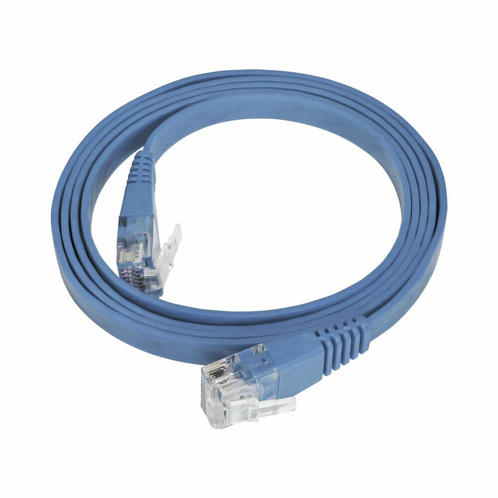 Patch Cord Flat Cable  RJ45 Flexível Cat6 1m Azul