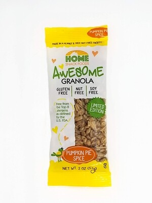 Awesome Granola - Pumpkin Spice - Limited Edition! 10 Pack - 2.0 oz