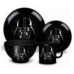 Set 4 Piezas Vajilla Cerámca Star Wars Darth Vader