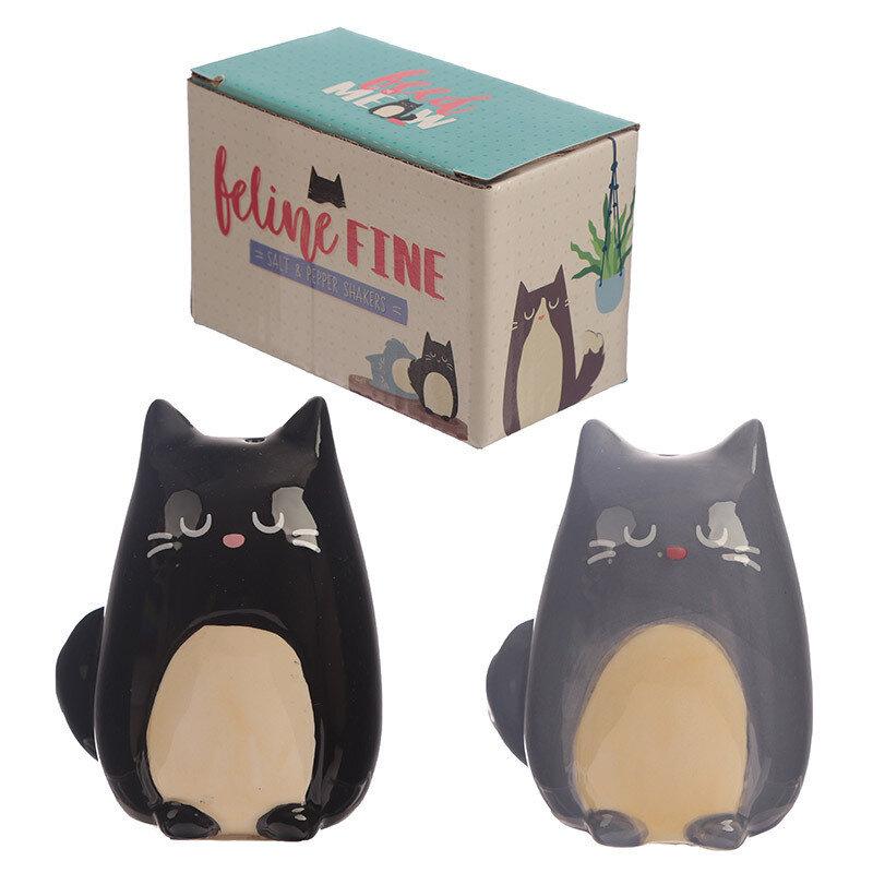 Set de salero y Pimentero Gatos Feline Fine