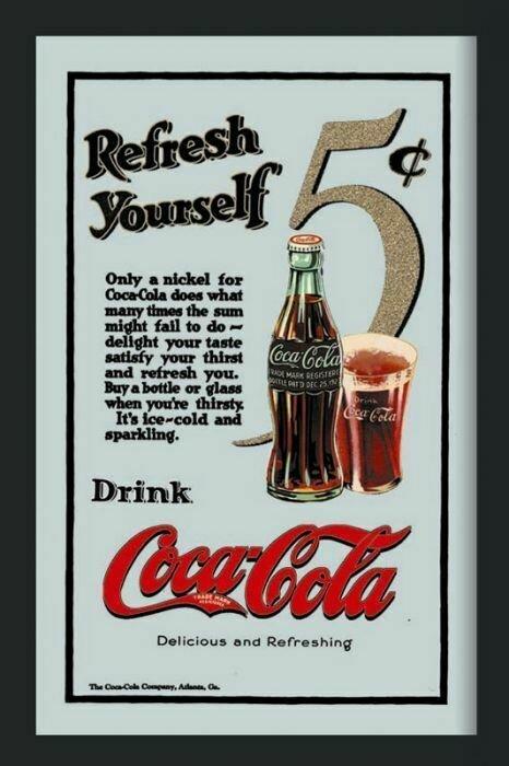 Espejo Coca-Cola 5 Céntimos