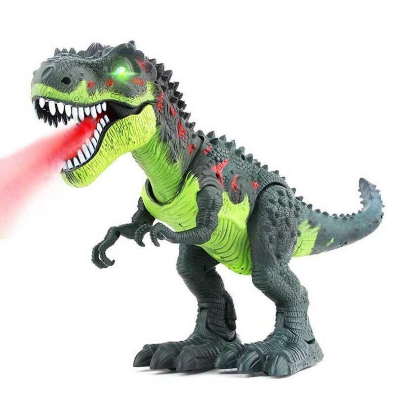 Dinosaurio T-Rex, Camina, Ruge y Echa Humo