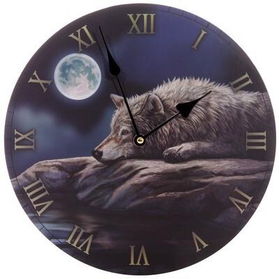 Reloj Lobo en Luna Llena