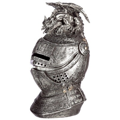 Hucha Casco Medieval con Gárgola