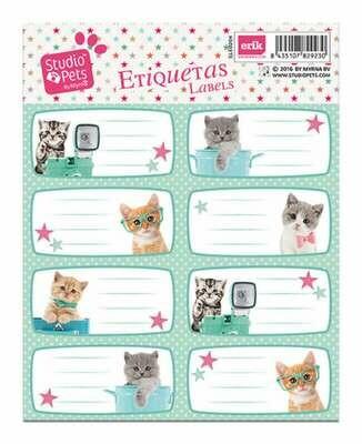 Etiquetas Escolares Gatitos