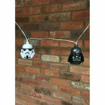 Guirnalda Luces Star Wars Stormtrooper y Darth Vader