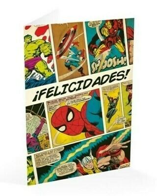 Tarjeta Felicitación Marvel