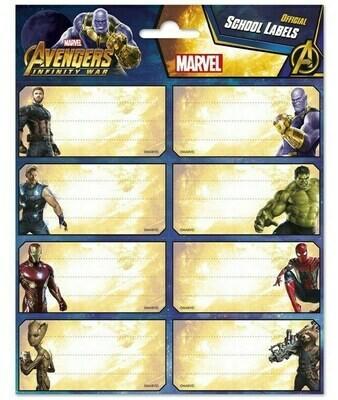 Etiquetas Adhesivas Avengers Marvel