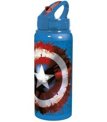 Botella Deportiva Aluminio Capitán América Marvel