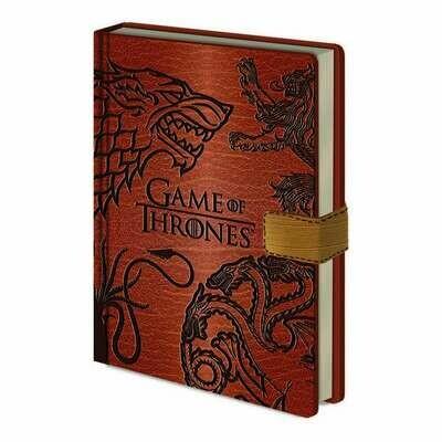 Cuaderno A5 Premium Juego de Tronos Sigils