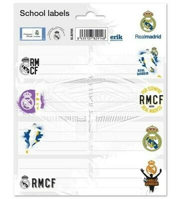 Etiquetas Adhesivas Real Madrid