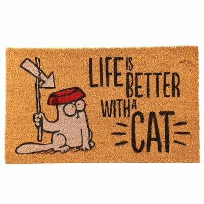 Felpudo Simon's Cat. Life Is Better With A Cat
