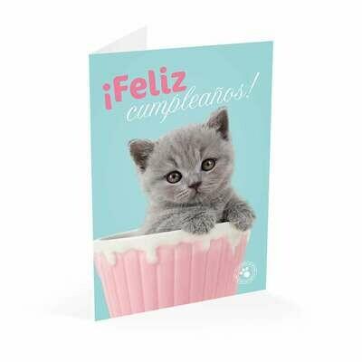 Tarjeta Felicitación Gato